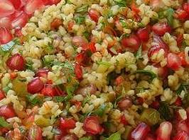 narlı cevizli bulgurlu salata